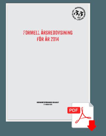 Formella årsredovisningen 2014