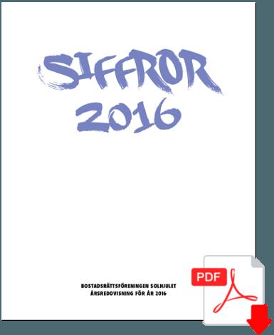 Siffror - Årsredovisning för 2016